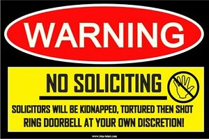 Funny-Sign-Stick-Decal-No-Soliciting-Decal-Sticker-4x6-adult-prank