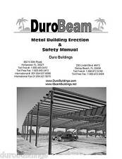 Duro Pre Engineered I Beam Steel Metal Building Erection Construction Manual Cd