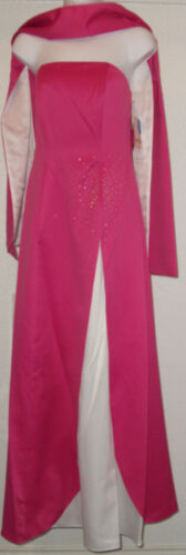NWT Genuine POLY USA special occasion or Bridesmaid strapless dress,Pink /& white
