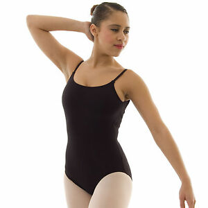 e1b51899e4f2 Capezio Rib Back Camisole Ballet Dance Leotard Cotton Lycra Ladies ...