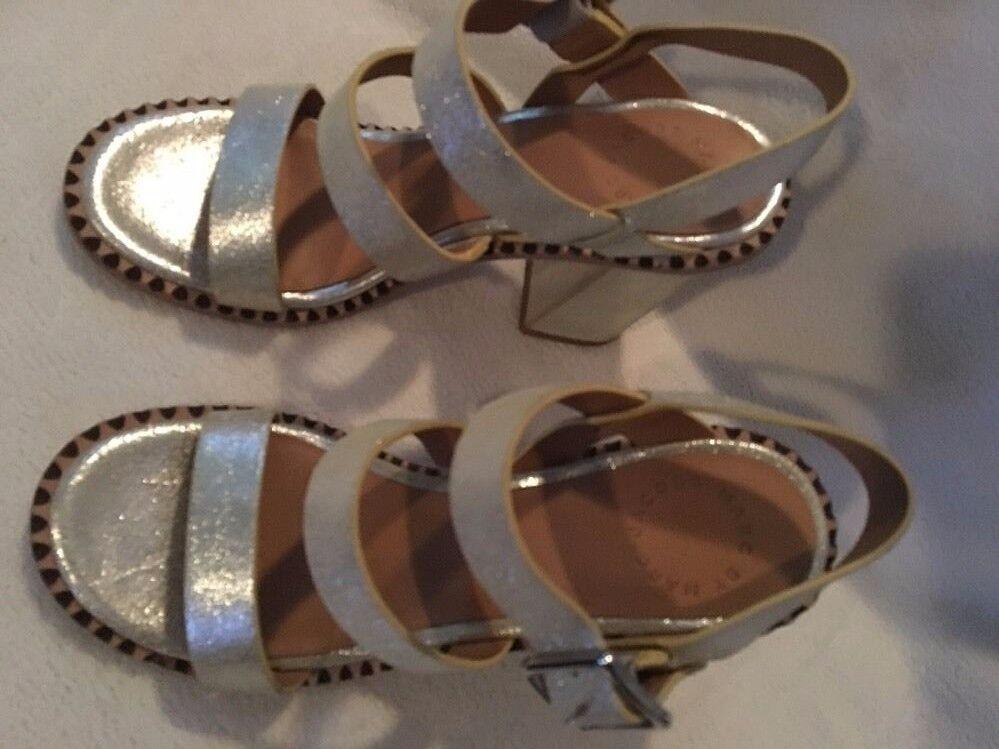 Marc By Marc Jacobs Mix It Up Metallic Crosta Crosta Crosta Sandals sz 38 new f2eadd