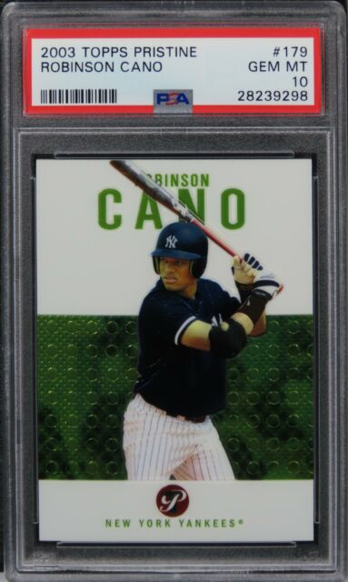 2003 Topps Pristine Robinson Cano ROOKIE Card