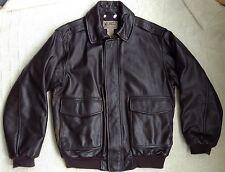LL Bean Flying Tiger Flight Bomber Type A2 Goat Skin Leather Jacket Coat Mens M