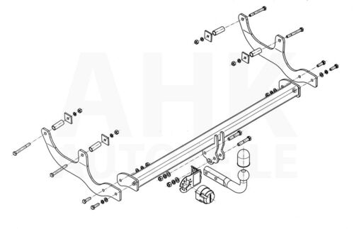 Kpl AHK Dacia Sandero I Stepway 08-12 Anhängerkupplung starr+ES 7p uni