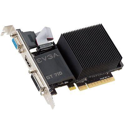 EVGA NVIDIA GeForce GT 710 2 GB Graphics Card VGA/DVI/HDMI