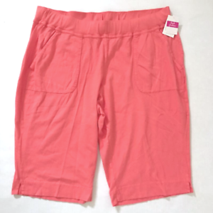 FRESH PRODUCE 3X Red Coral orange Key Largo Pedal Pushers Shorts NWT New 3X