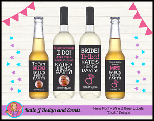 hens party night bridal shower wine bottle labels gifts party decorations