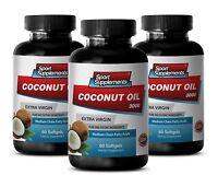Fat Burner For Women - Coconut Oil 3000 - Fatty Acids - Superfood Pills 3b