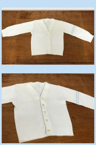 Vintage Baby Cardigan Sweater Button Up Long Sleev