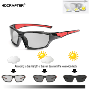 Men-Photochromic-Polarized-Sunglasses-Outdoor-Driving-Riding-Fishing-Glasses-New