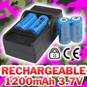 4 piles accu rechargeable cr123a 3 7v 123a 16340 1200mah li ion chargeur ebay. Black Bedroom Furniture Sets. Home Design Ideas