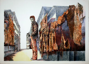 "Robert CARROLL ""Strada"" , 1979 litografia originale firmata"