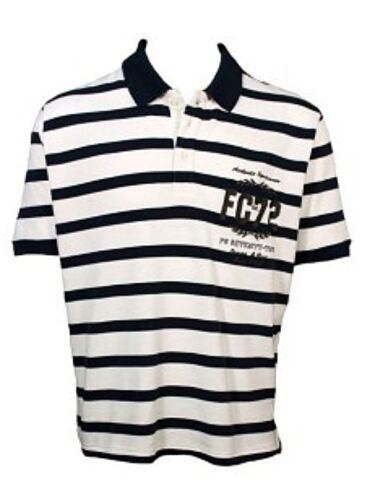 NEW MENS FRENCH CONNECTION POLE POSITION NAVY WHITE POLO SHIRT T SZ M 56CK1 SALE