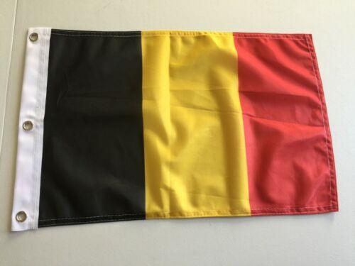 """12/"""" x 18/""""  BELGIUM FLAG 12x18 BELGIAN FLAGS EUROPEAN 15"""