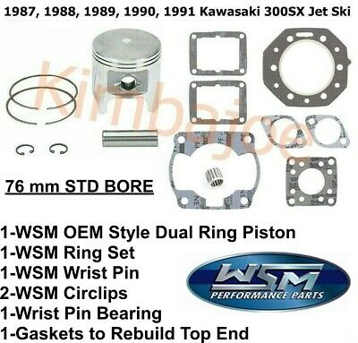 Piston Ring Set 75.25mm Bore Fits 1987 Kawasaki JS550