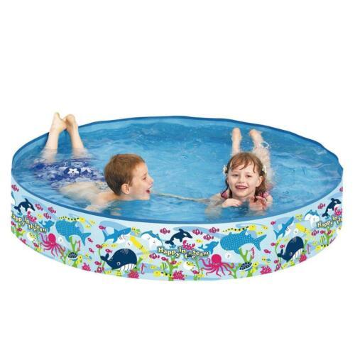 Childrens Snapset Rigid Paddling Pool Garden Outdoor Kids Toddler Play Easy Fill