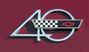 1993 Chevrolet Corvette 40TH Anniversary Side Hood Emblem Genuine OEM GM Part