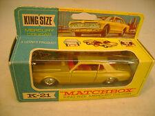 MATCHBOX LESNEY KING SIZE K21 MERCURY COUGAR VERY NICE IN BOX