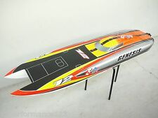 "160 KMPH RTR 55"" 1400mm Large Super Fast Twin Motor Genesis FE EP RC Boat 12S"