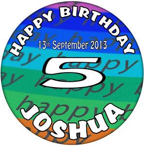 59mm Badges 70th Birthday /'Personalised/' Happy  Birthday Celebration Badge