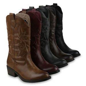 cheap for discount 8508d 45fdf Details zu Damen Cowboystiefel Modische Western Stiefel Cowboy Boots 825658  Schuhe