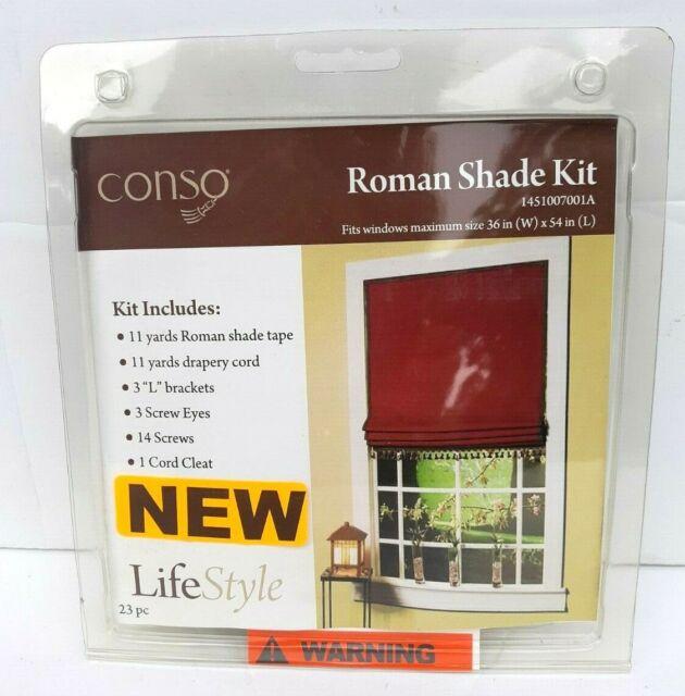 Conso Roman Shade Hardware Kit 36 X 54