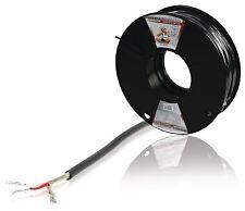 Konig Micrófono Cable/plomo/cable En Un Reel 100m Negro (2x0.08mm²)