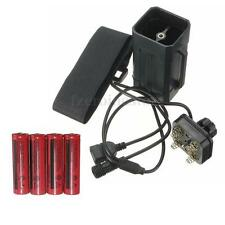 4x 18650 Battery + 1x Storage Case Box Holder For Bicycle Bike Head Front Light