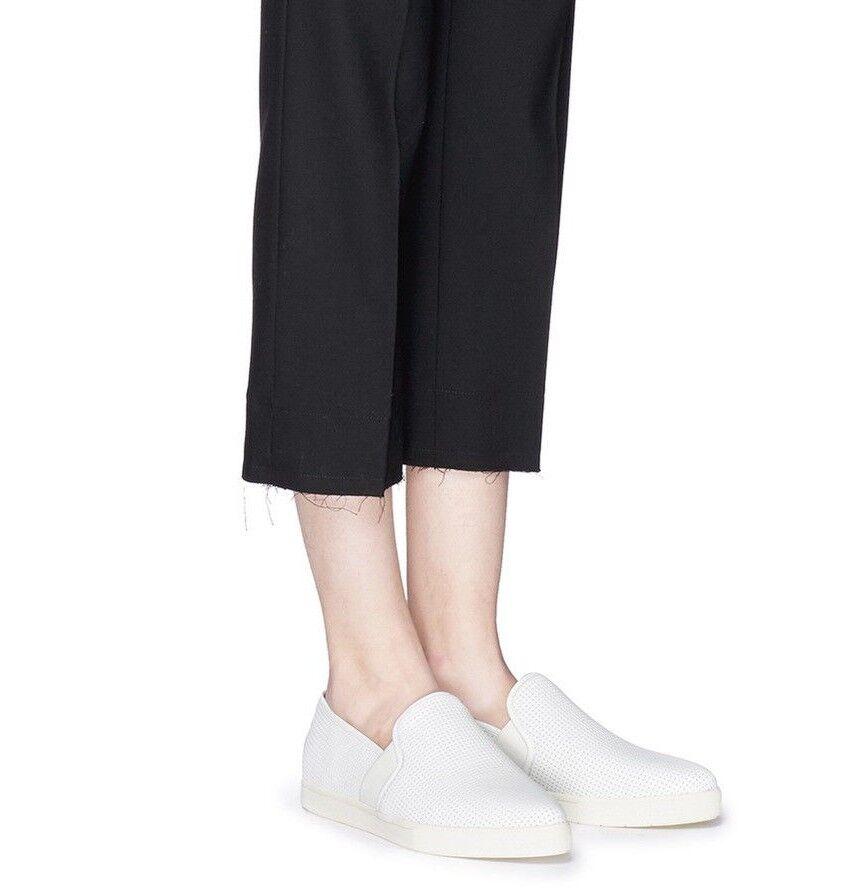 NIB Vince Pierce Perforated Leather Slip On Sneakers Black Black Black & Plaster(White)  225 d07f93