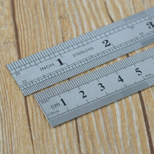 1//5 Pcs 15cm 6 inch Stainless Steel Double Side Measuring Straight Ruler Tools