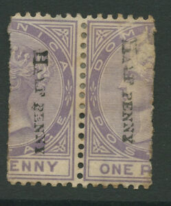 Dominica Sg12 1883 2x 1/2d P14 Modern Design Stamps