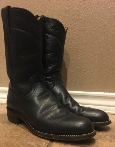 Vtg 70/'s Justin Womens Cowboy Boots sz 5.5 D Blue Roper style 3050