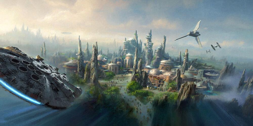 Star Wars Planet - CANVAS OR PRINT WALL ART