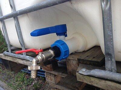 AAMK Auslauf IBC-Container-Zubehör-Regenwasser-Tank-Adapter-Fitting-Tonne-Garten