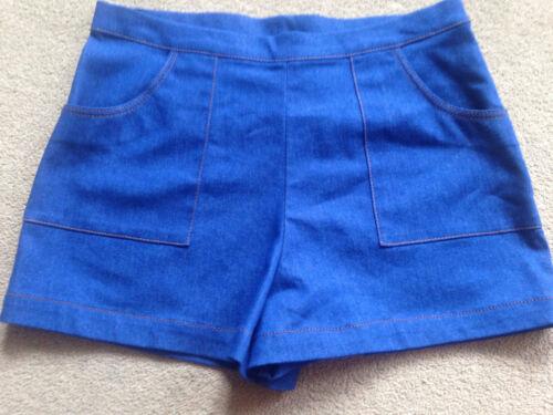 BNWT m/&s Enfants filles Bleu Denim Shorts 12-13 ans réglable à la taille