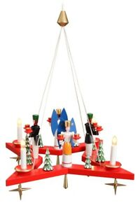 Lights-Wreath-Advent-Wreath-Stern-with-Angel-And-Bergmann-El-Red-50cm-New