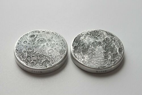 Gift Or Reminder Coin W//OMP ULTRA CHUNKY Full Moon 16 g Silver Antiqued Worry
