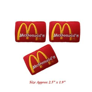 3-pcs-Logo-McDonald-039-s-Patch-Embroidered-Iron-or-Sew-on-Coat-Jacket-bag-hat-Jean