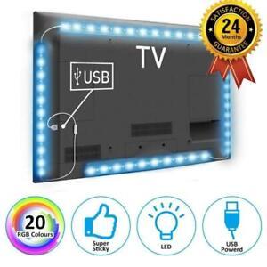 2M-per-5050-SMD-LED-striscia-RGB-USB-luce-TV-retro-illuminazione-Kit