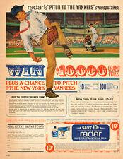 1958 vintage AD RADAR Men's Hair Grooming  Pitch toYankees Sweepstakes  050415