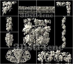 10-3D-Model-STL-CNC-Router-Artcam-Aspire-Grapes-New-Decor-Cut3D-Vcarve