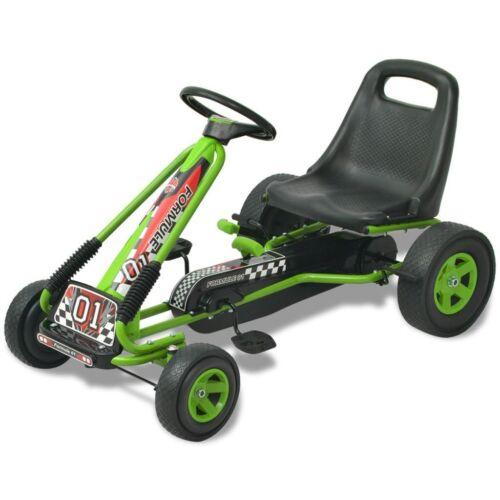 vidaXL Pedal Go Kart w// Adjustable Seat Ride-On Car Children Kids Blue//Green
