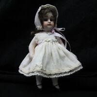 """Batiste Dress Set for 7"""" Antique Doll Mignonette All Bisque Kestner French"""