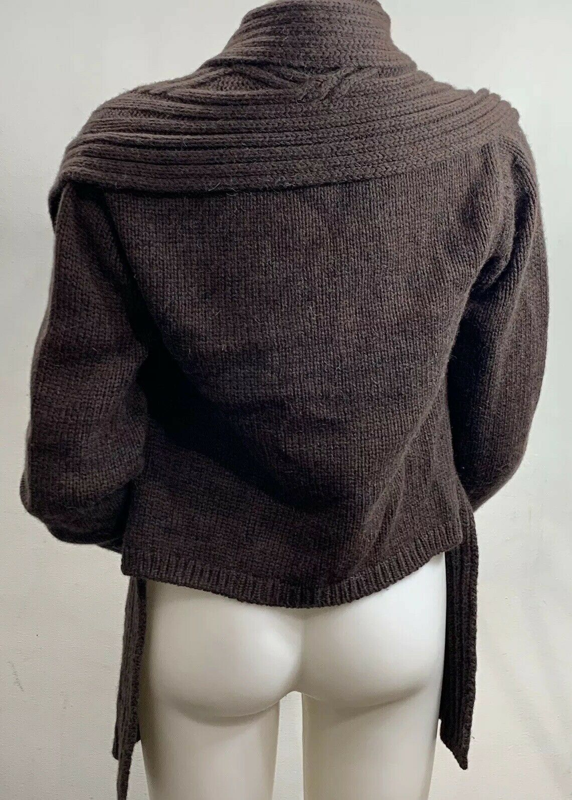 Inis Meain Wool Alpaca Cashmere Brown Knit Open F… - image 5