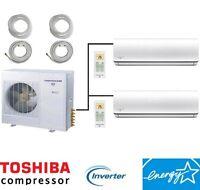 21 - 23 Seer Energy Star Dual Zone Ductless Mini Split Air Conditioner Heat Pump