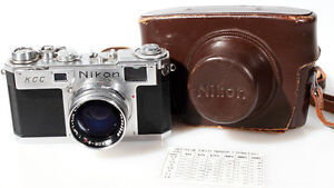 NIKON S2 RANGEFINDER W/ NIKKOR-S 50MM F1.4 LENS AND CASE