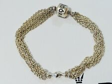 89fe0176e Authentic PANDORA Multi Chain Strand One Clip Bracelet 591701 17cm