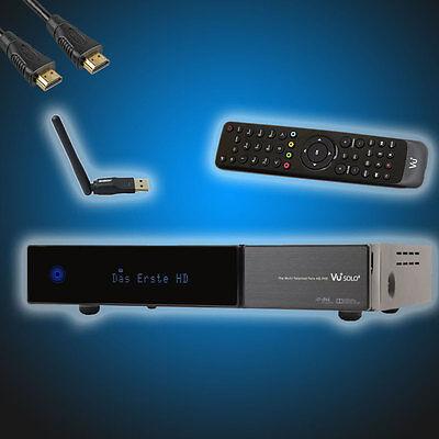 VU+ Solo2 Twin Sat Digital Receiver inkl. EdiMega Wlan, HDMI Kabel und 250GB HDD