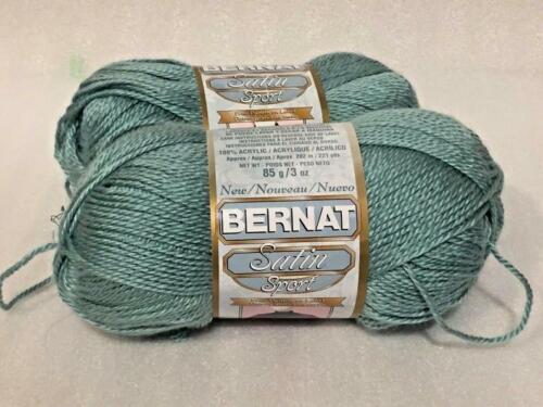 BERNAT~SATIN SPORT~U PICK COLOR~LOT OF 2 SKEINS~139 YDS EACH~100/% ACRYLIC 1.75OZ