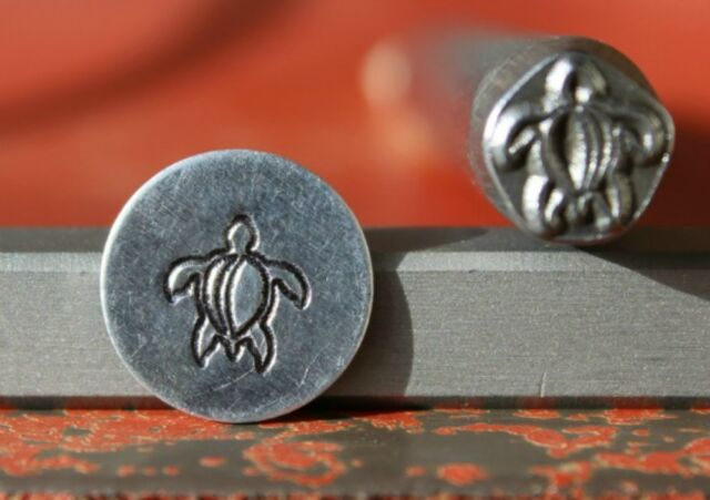 7mm Sea Turtle Metal Punch Design Jewelry Stamp
